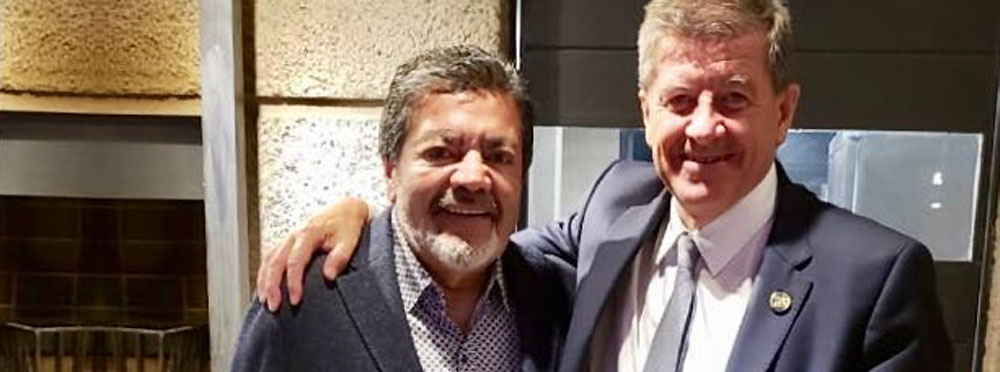 Gerardo Martinez with Guy Ryder, elected Director-General of the ILO