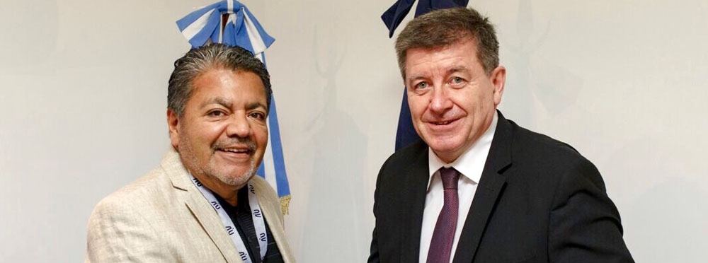 Gerardo Martinez with Guy Ryder, Director-General of the ILO