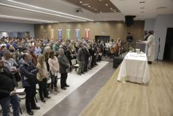 CLOSING OF THE EXHIBITION ACTIONS AND WORDS AT UOCRA CULTURAL SPACE WITH THE PRESENCE OF GERARDO MARTÍNEZ AND A MASS CELEBRATED BY FATHER PEPE DI PAOLA