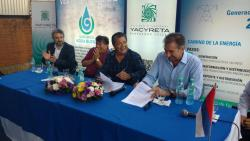 GERARDO MARTINEZ SIGNED AGREEMENT WITH THE BINATIONAL YACYRETÁ ENTERPRISE FOR PROFESSIONAL TRAINING