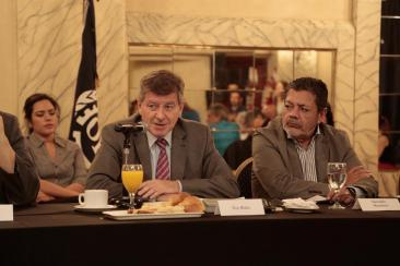 GUY RYDER, ALONG WITH THE HIGHEST UNION REPRESENTATIVES, ANALYSED WORKERS' SITUATION AT GLOBAL, REGIONAL AND NATIONAL LEVELS